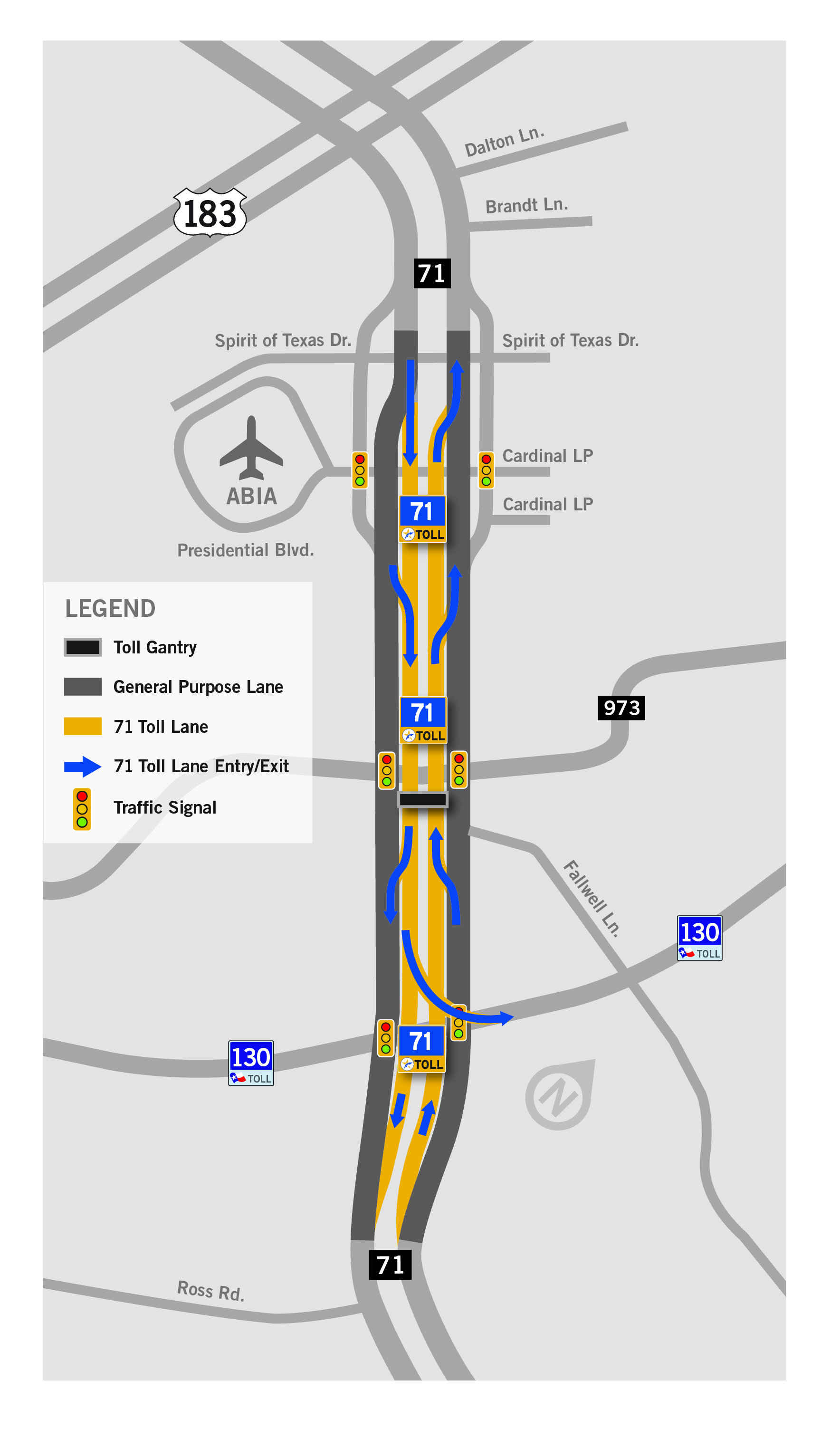 71 Toll Lane Map