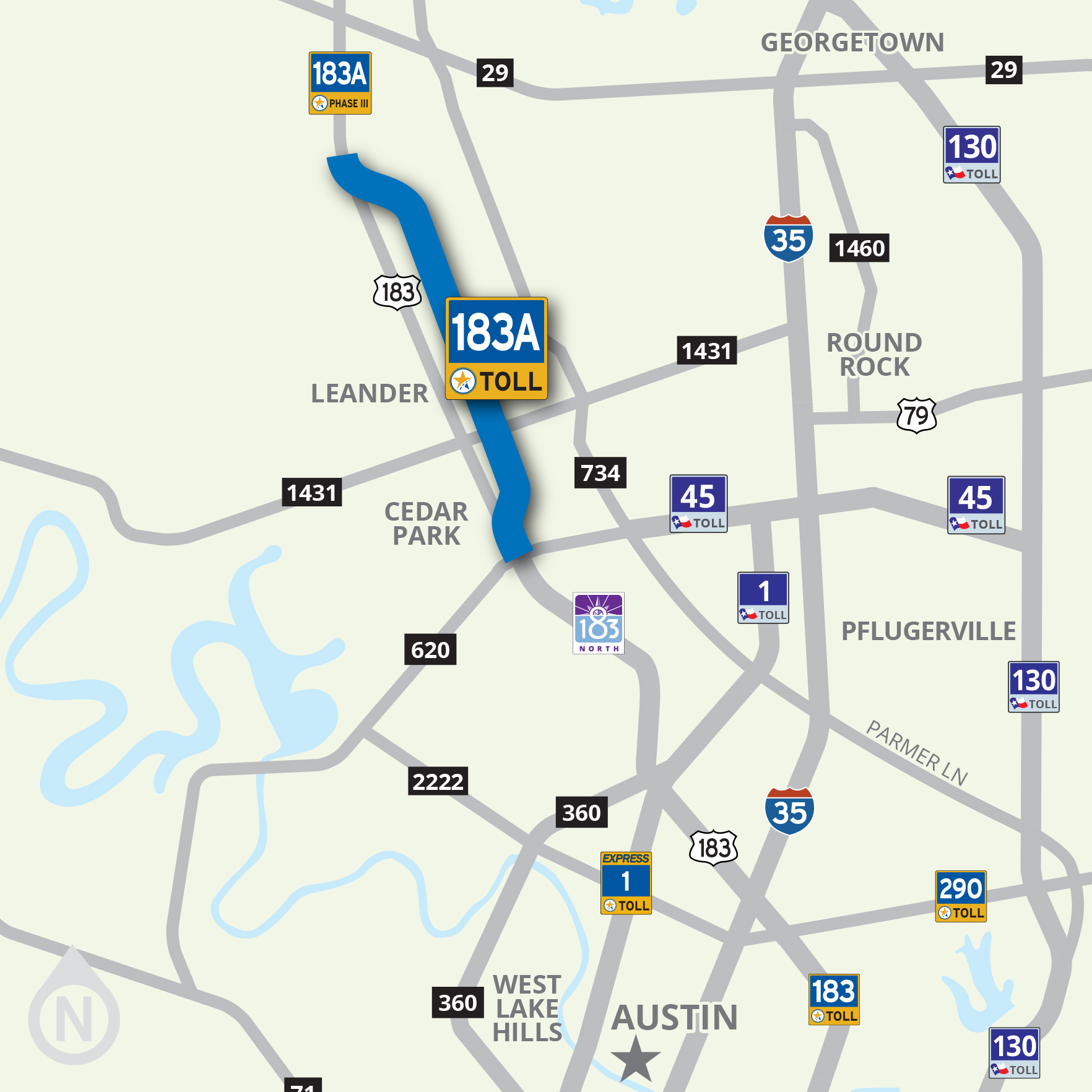183A Toll | Central Texas Regional Mobility Authority Map Of Toll Roads In Austin on oklahoma city map toll roads, map indiana toll roads, map of sh130, map of austin restaurants, map houston toll roads, map texas toll roads, map of austin traffic, texas dot toll roads, map of austin public transportation, map of austin light rail, map of austin hospitals, map of austin golf courses, map of austin expressways, map of austin schools,