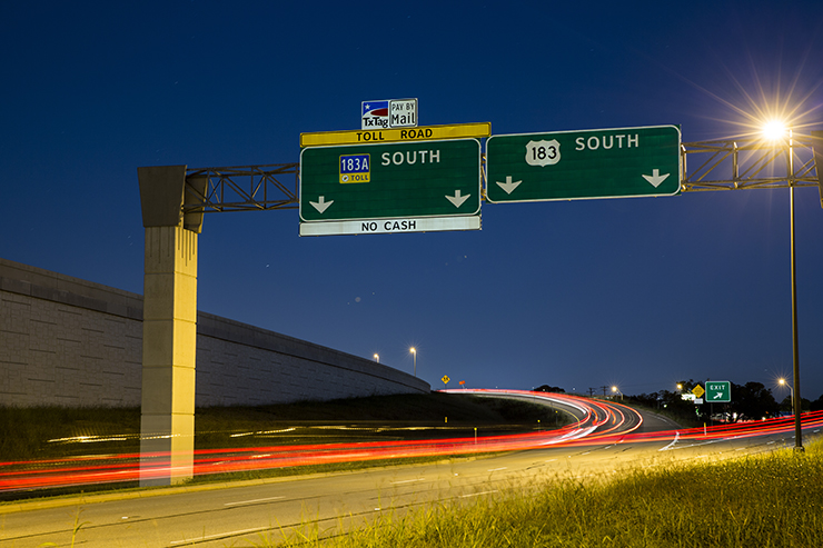 Mobility Authority Photos - 183a toll road map